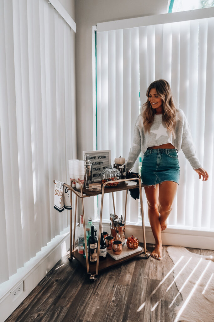 How To Style A Fall Bar Cart   Audrey Madison Stowe a fashion and lifestyle blogger