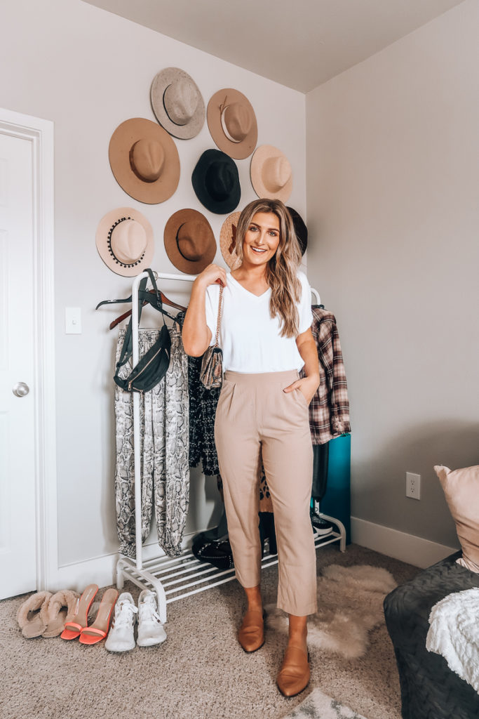 10 Ways To Style A White Tee - Work wear | Audrey Madison Stowe a fashion and lifestyle blogger in Texas