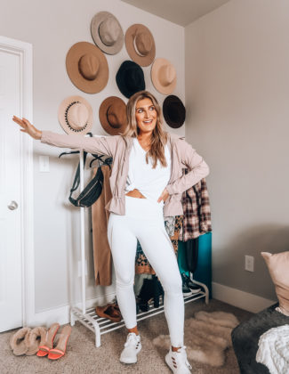 10 Ways To Style A White Tee - Athleisure | Audrey Madison Stowe a fashion and lifestyle blogger in Texas