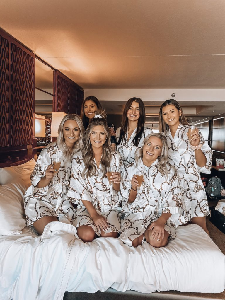 Bachelorette in Vegas! Bridal party robes