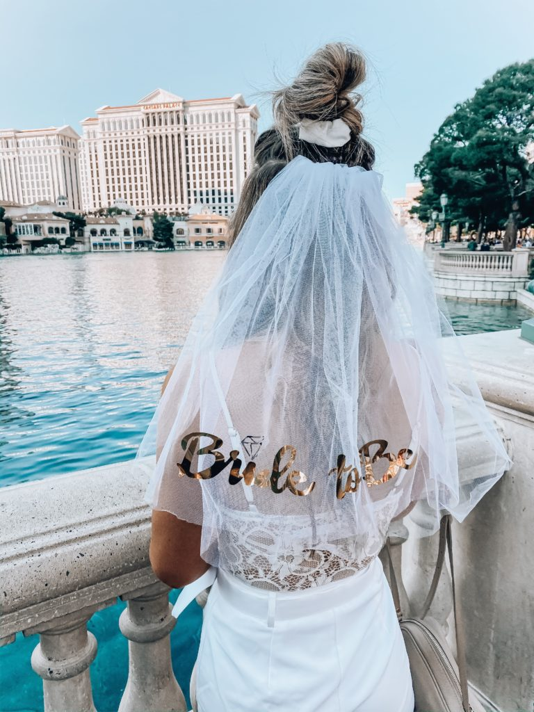 Bride to Be Bachelorette Outfit | All White Vegas Bachelorette outfits