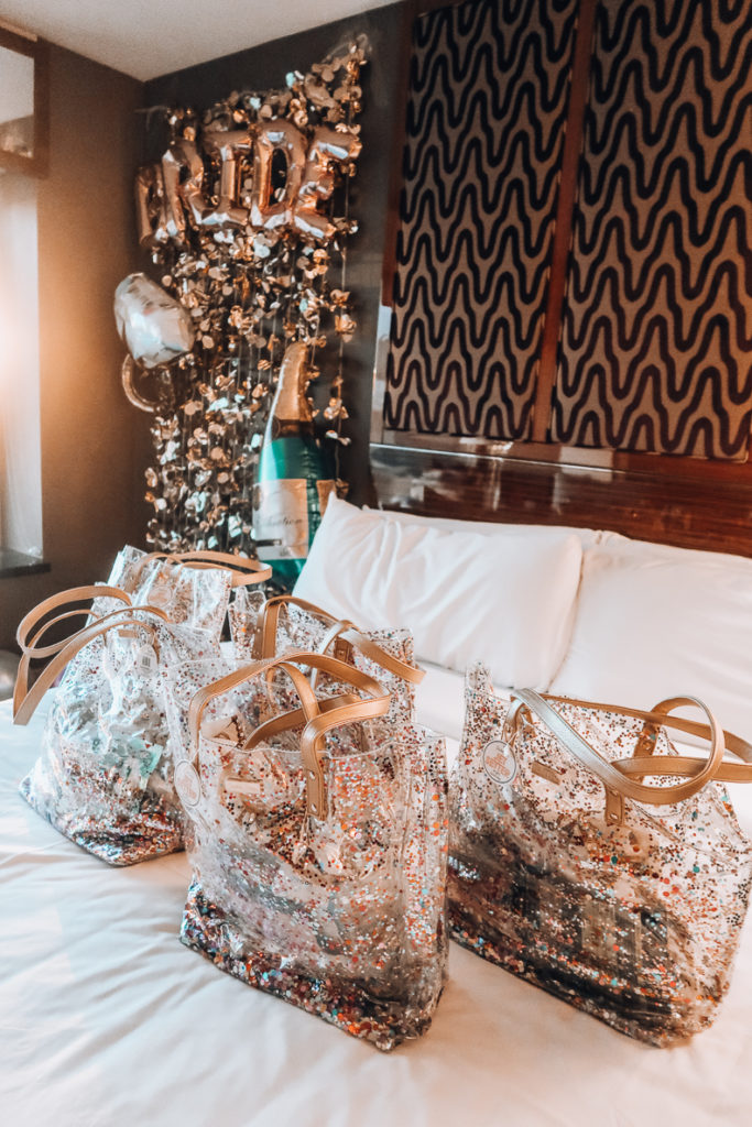 My Bachelorette in Las Vegas | Gift Bags | Audrey Madison sTowe a fashion and lifestyle blogger