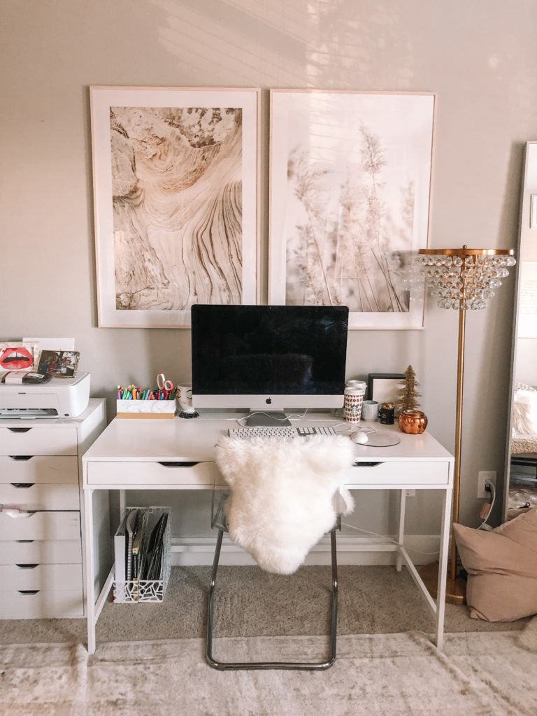 Neutral Wall Art in my Office | Audrey Madison Stowe a fashion and lifestyle blogger