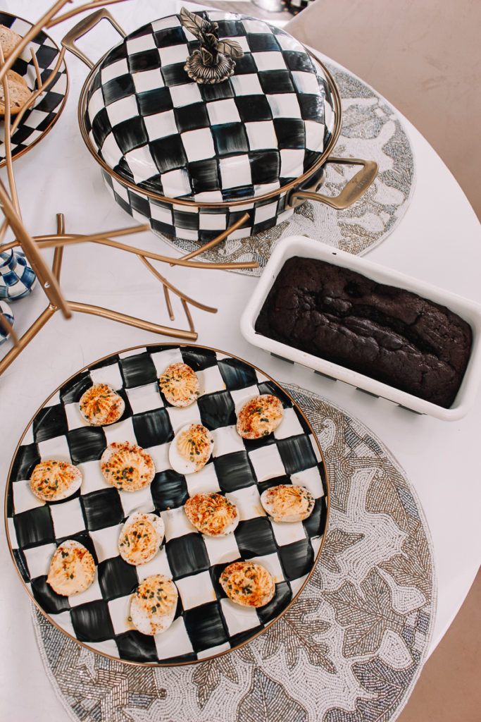 delived eggs tray | Holiday Serveware with MacKenzie-Childs | Audrey Madison Stowe a fashion and lifestyle blogger
