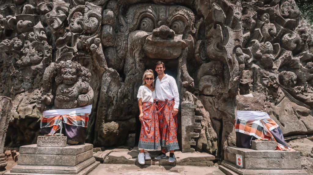 Husband and Wife on Honeymoon in Ubud, Bali