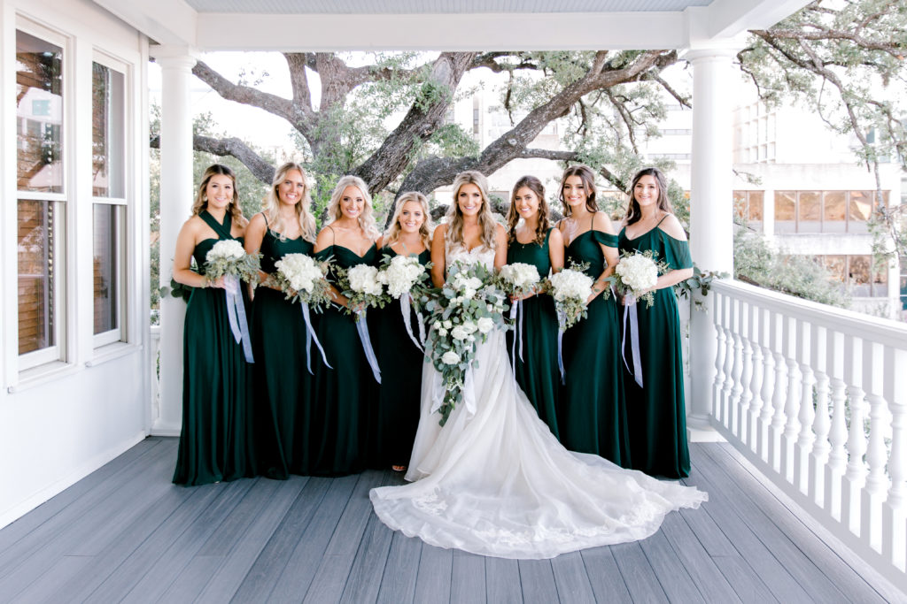Emerald Green Bridesmaid Dresses | Birdygrey | Winter Wedding