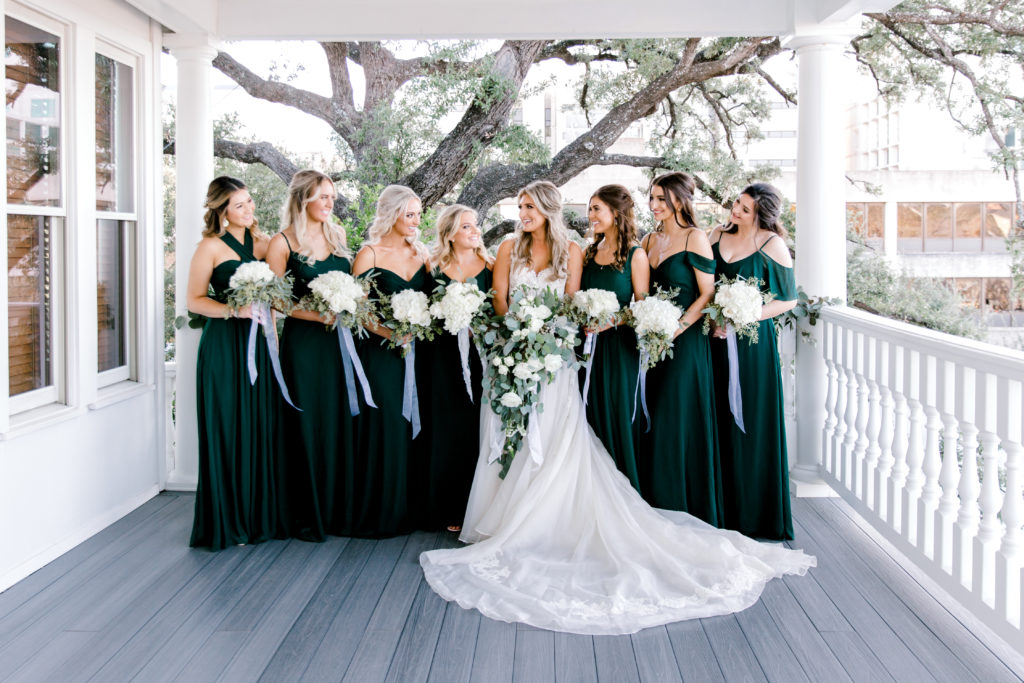 Emerald Green Bridesmaid Dresses | Birdygrey | Winter Wedding | Audrey Stowe a fashion and lifestyle blogger