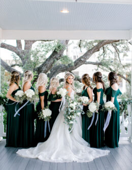 Emerald Green Bridesmaid Dresses | Birdygrey | Winter Wedding