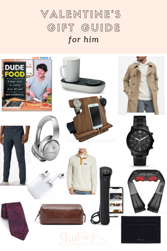 Valentine's Gift Guide For Him   Valentine's Day Gift ideas   Audrey Madison Stowe a fashion and lifestyle blogger