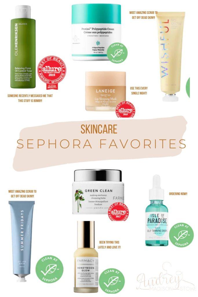 Spring Sephora Sale! | Skincare Sephora Favorites | Audrey Madison Stowe