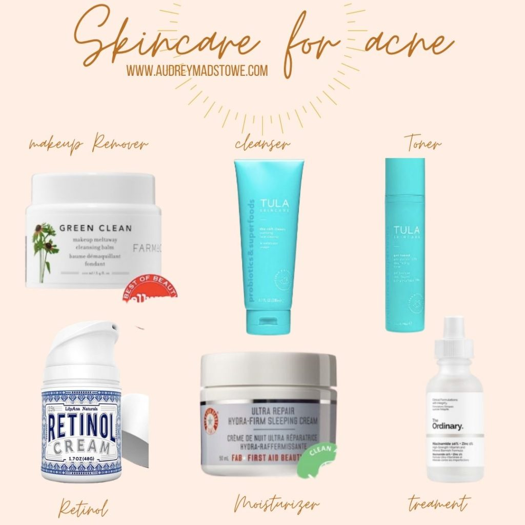 Skincare For Acne | Acne Routine Spring 2020 | Audrey Madison Stowe a fashion and lifestyle blogger