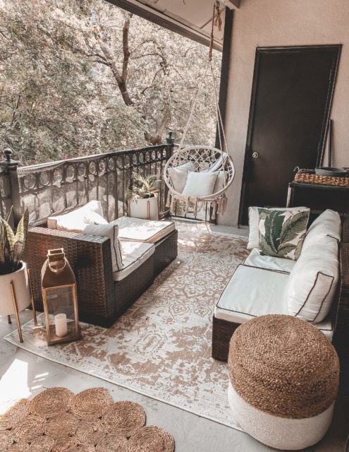Our Outdoor Balcony Space   Audrey Madison Stowe a fashion and lifestyle blogger