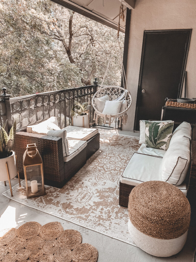 Our Outdoor Balcony Space | Audrey Madison Stowe a fashion and lifestyle blogger