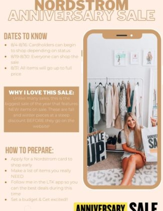 All of The Info You Need About 2020 Nordstrom Anniversary Sale | Audrey Madison Stowe a fashion and lifestyle blogger