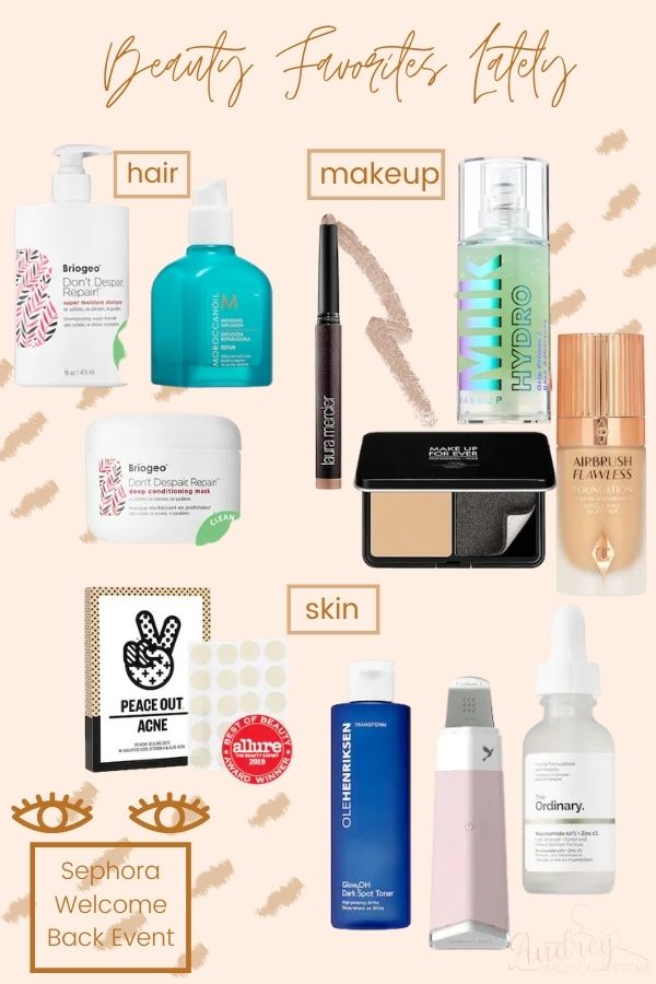 Beauty Favorites Lately | Sephora Summer Sale | Audrey Madison Stowe a Fashion and lifestyle blogger