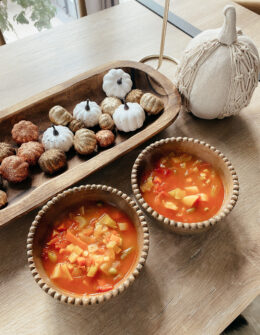 Healthy Fall Vegetable Soup Recipe | Audrey Madison Stowe a fashion and lifestyle blogger