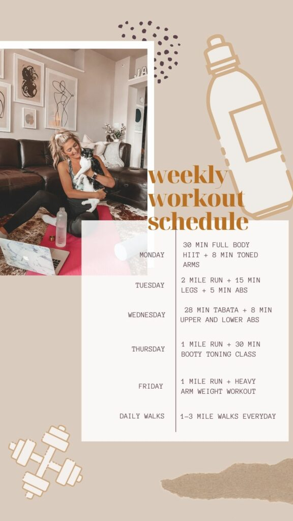 How I Plan My Home Workouts | Wellness Wednesday | Audrey Madison Stowe a fashion and lifestyle blogger
