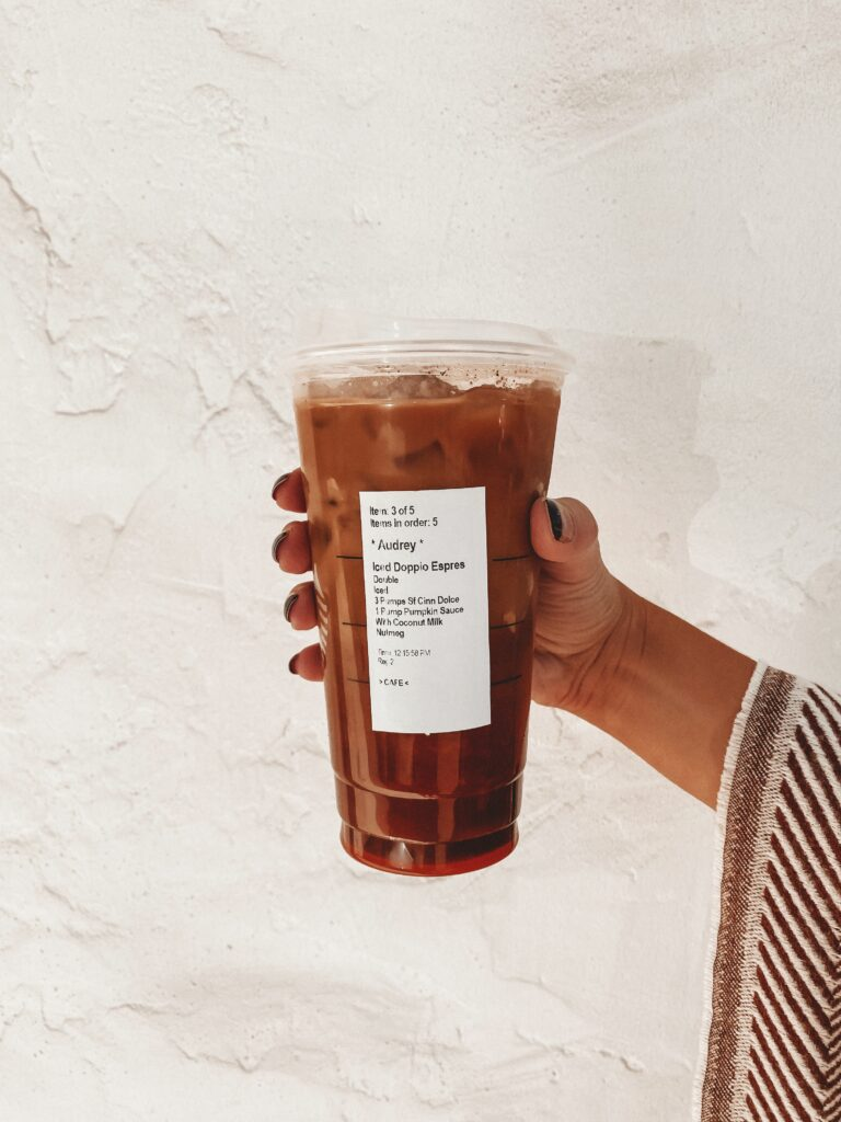 Healthy Fall Starbucks Drinks To Try   Starbucks Coffee   Audrey Madison Stowe a Dallas blogger