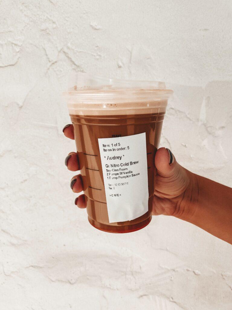 Healthier Pumpkin Spice Latte at Starbucks | Audrey Madison Stowe
