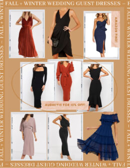 Fall and Winter Wedding Guest Dresses | Wedding Guest Dress ideas | Audrey Madison Stowe