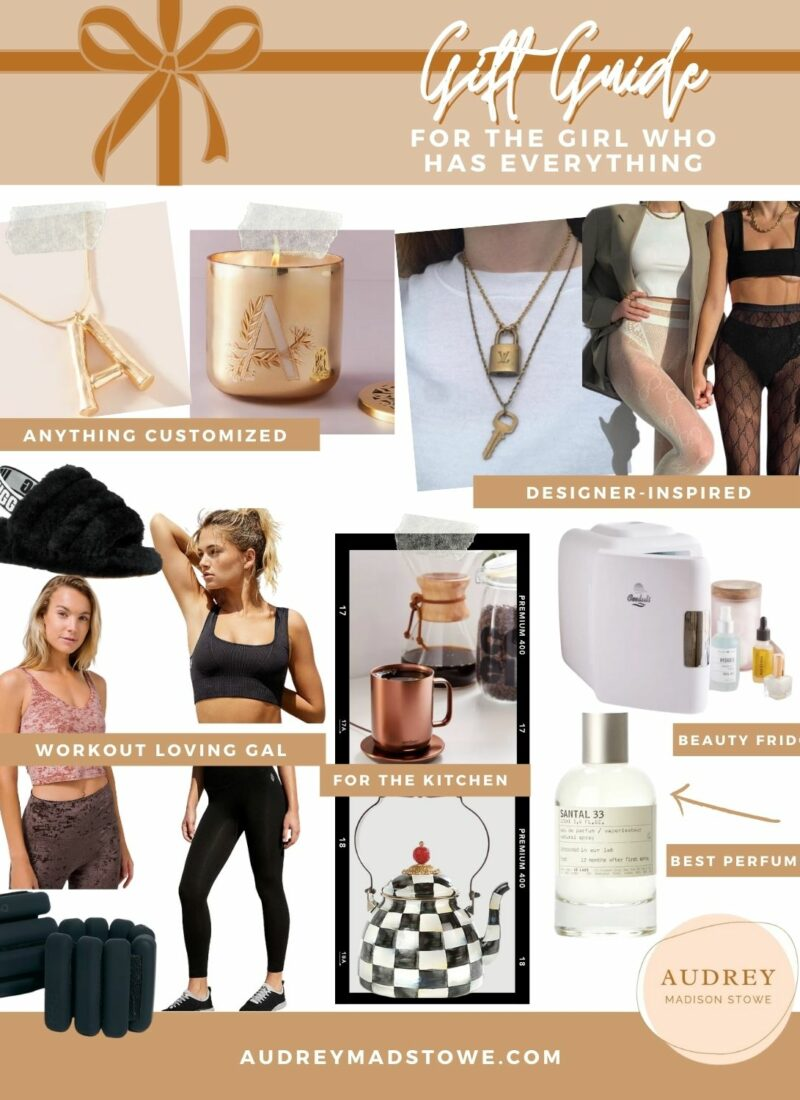 Gift Guide For HER! The Best Gift Ideas for Her that are splurge worthy | Designer inspired | Audrey Madison Stowe a fashion and lifestyle blogger