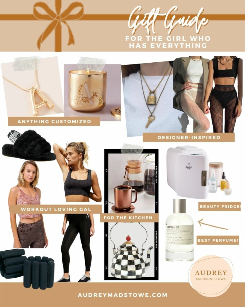 Gift Guide For HER! The Best Gift Ideas for the girl that has Everything | Designer inspired | Audrey Madison Stowe a fashion and lifestyle blogger