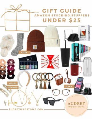 Amazon Stocking Stuffers Under $25 | Holiday Gift ideas 2020 | Audrey Madison Stowe a fashion and lifestyle blogger