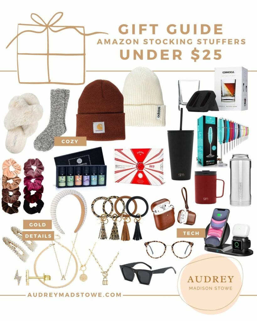 Amazon Stocking Stuffers Under $25 | Holiday Gift ideas 2020 | Audrey Madison Stowe a fashion and lifestyle blogger