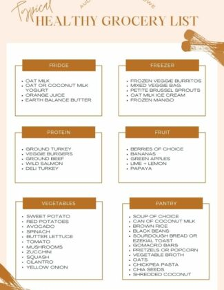 My Healthy Grocery List | Typical Weekly Grocery List | Audrey Madison Stowe a fashion and lifestyle blogger