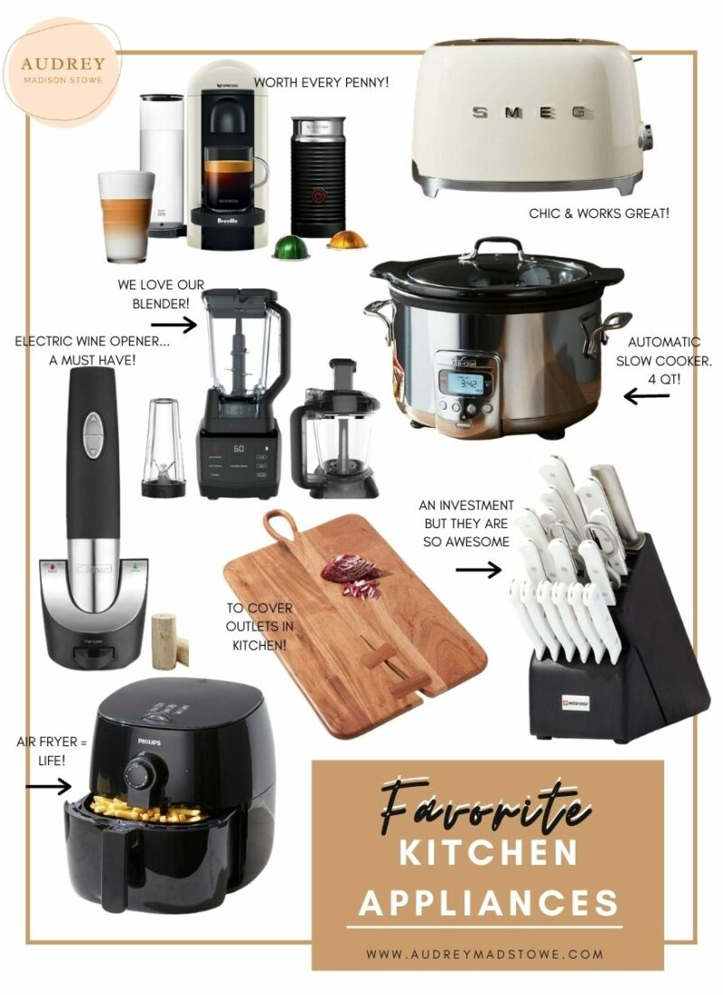 Favorite Kitchen Appliances | Wedding Registry Ideas | Homeware Christmas Gifts to Give | Audrey Madison Stowe a fashion and lifestyle blogger