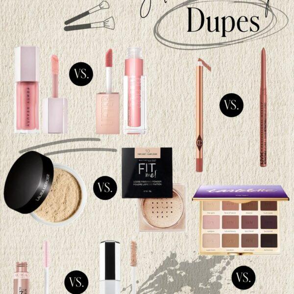 Popular Makeup Dupes | High End vs. Drugstore
