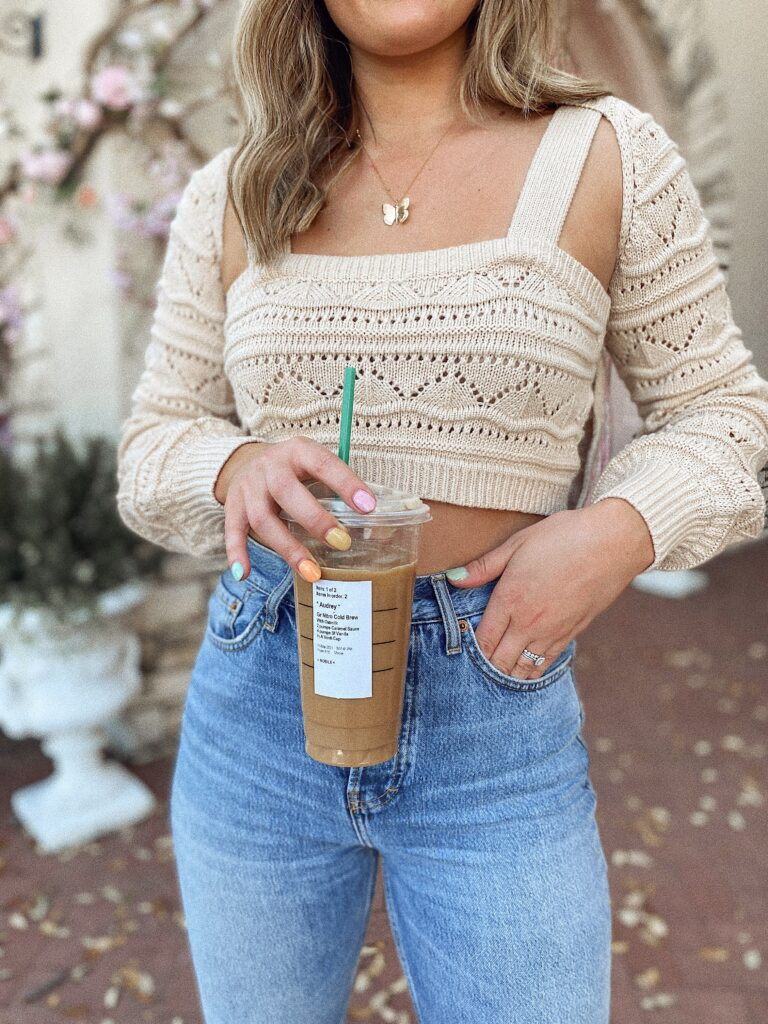 Dairy Free Starbucks To try this Spring! Revolve clothing | Audrey Madison Stowe a fashion and lifestyle blogger