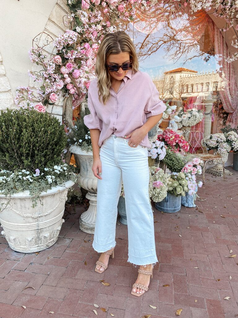 Cute casual Easter outfit 2021 | Audrey Madison Stowe a texas lifestyle blogger