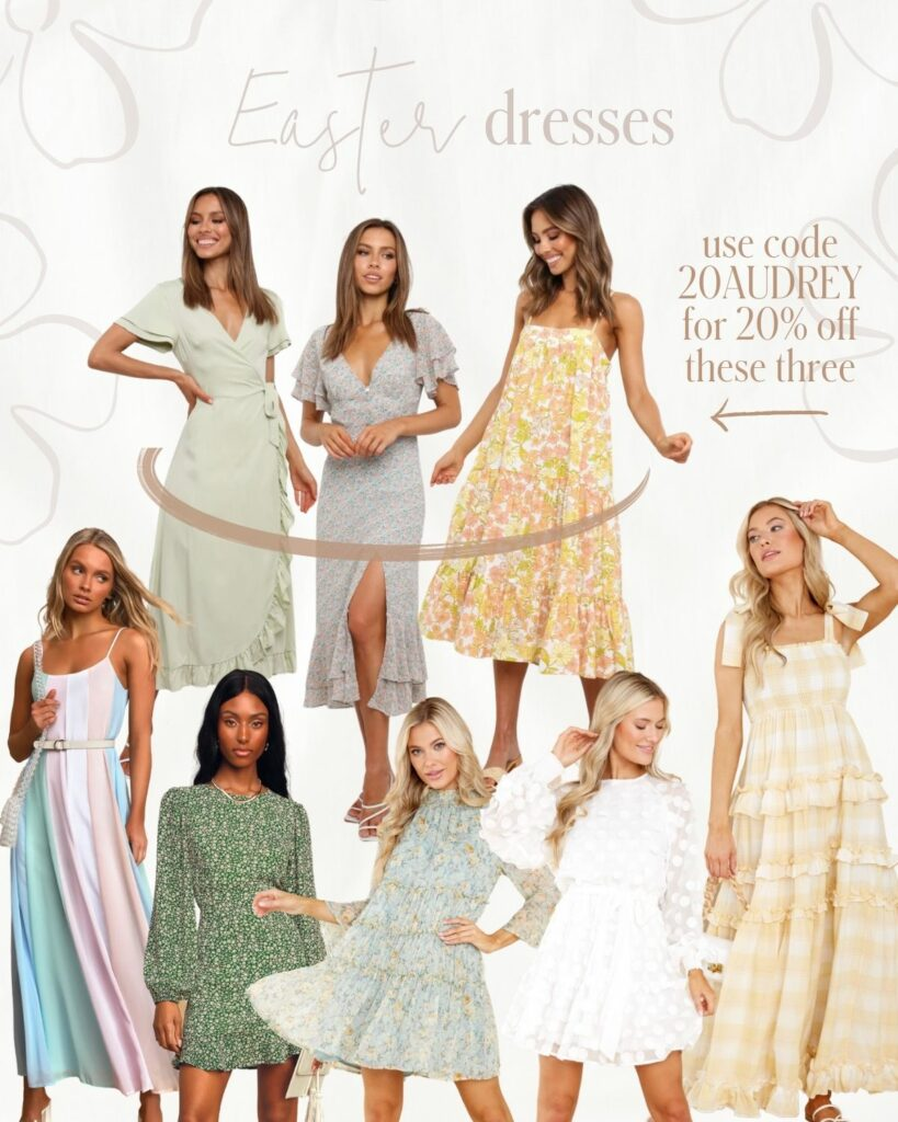 Easter Dresses to wear this Year! Spring pastels and color | Audrey Madison Stowe