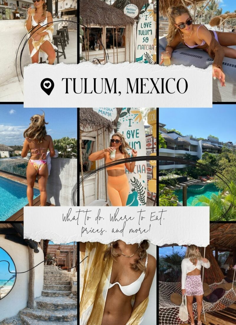 Tulum, Mexico Things To Do | Tulum Aesthetic | Beachy boho inspired | Audrey Madison Stowe a fashion and lifestyle blogger