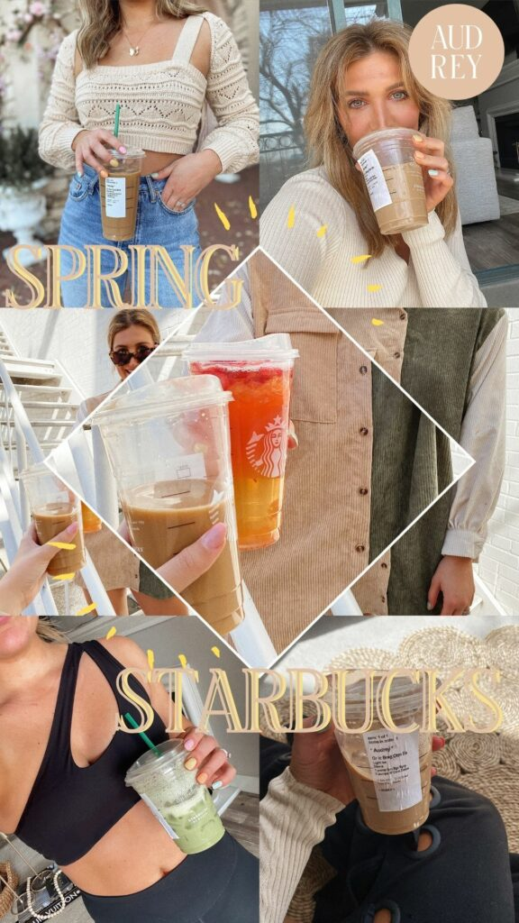 Spring Starbucks Drinks to Try | Tea and coffee options | Audrey Madison Stowe