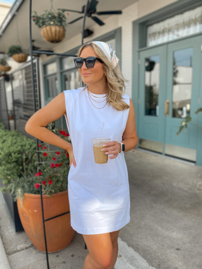 White Muscle Tee Dress | Spring Fashion Trends 2021