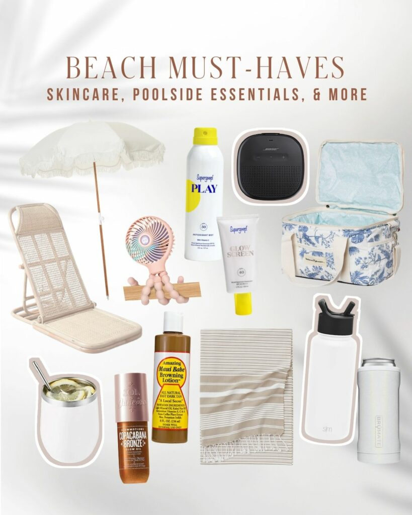 Beach Must Haves 2021 | What to Bring and Order for the beach | Audrey Madison Stowe