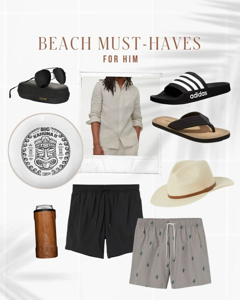 Beach Must Haves: For Him! What To Get The Guys | Mens Fashion for the beach