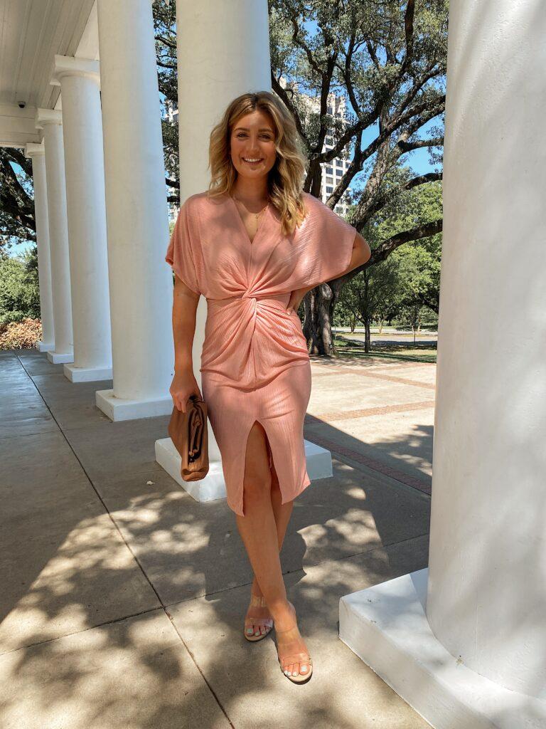 Spring Wedding Guest Dress | Amazon Dress | Audrey Madison Stowe