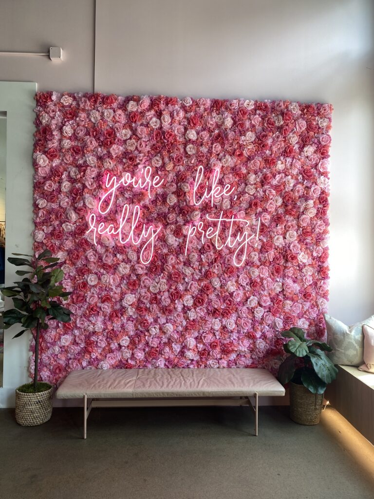 Floral wall you're like really pretty