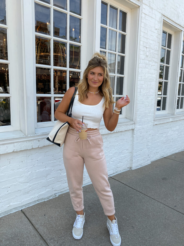 Casual Travel Outfit For Nash   Audrey MAdison Stowe   Y2K joggers