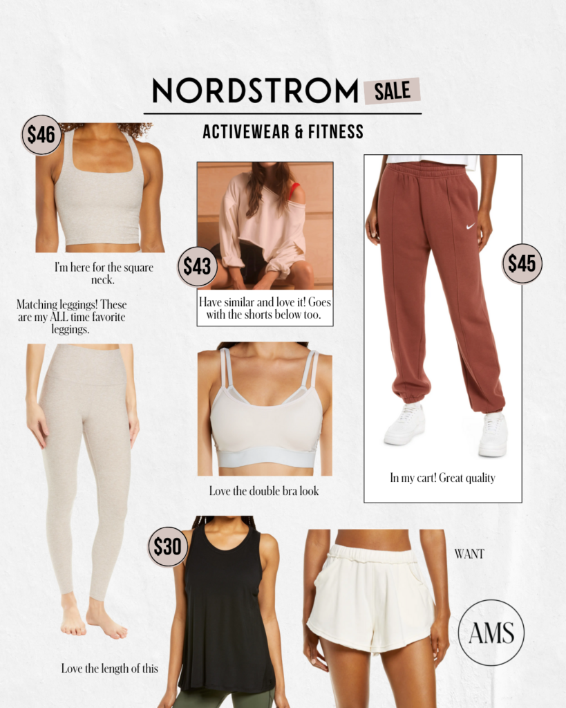 Nordstrom activewear apart of the Anniversary Sale
