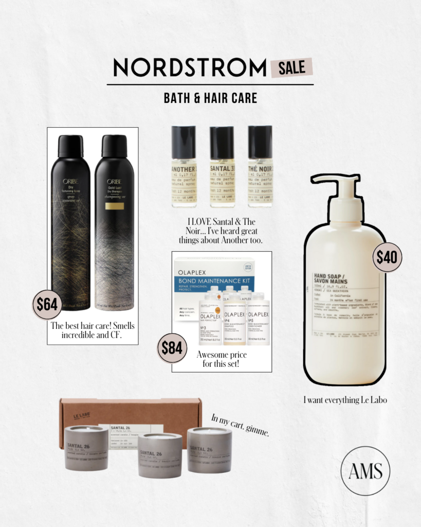 Nordstrom Anniversary sale best bath and hair care