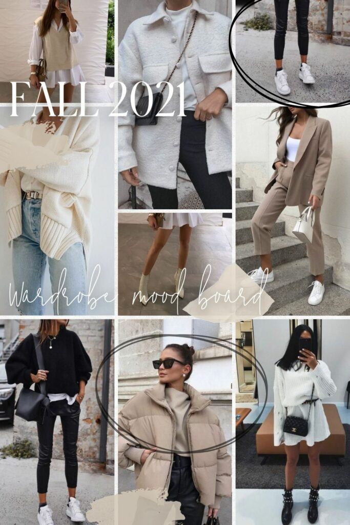 Wardrobe mood board for Fall 2021   audrey madison stowe